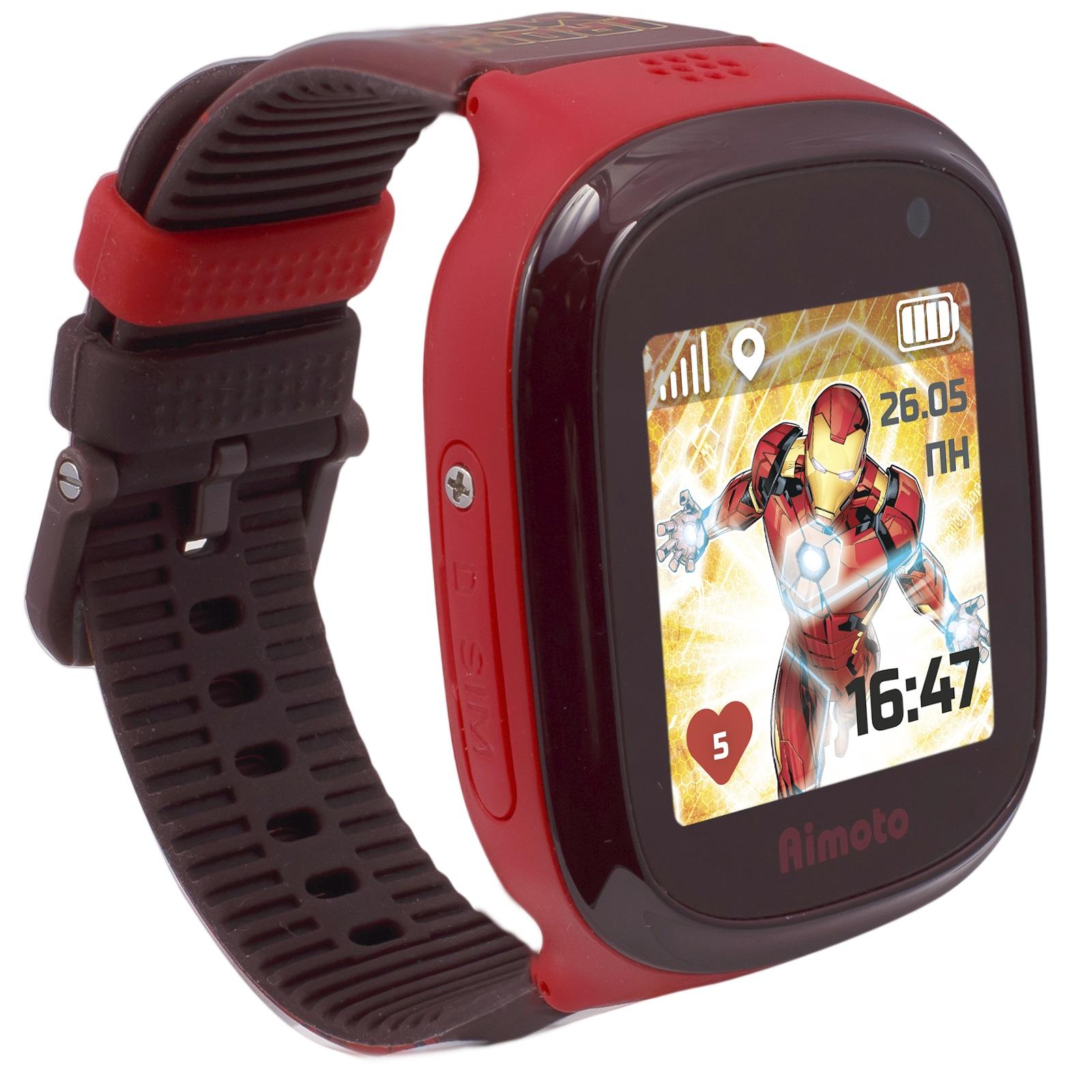 """Детские часы Кнопка Жизни Aimoto Marvel """"Железный человек"""" (Red)"""