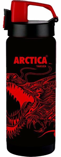 Арктика 0,5 л (702-500RD) - термос - сититерм (Черный/Красный)