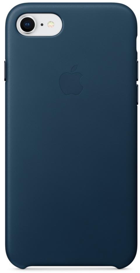 Чехол Apple Leather Case MQHF2ZM/A для iPhone 7/8 (Cosmos Blue)