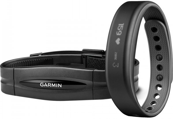 Garmin Vivosmart+HRM L - комплект из фитнес браслета и пульсометра (Gray)
