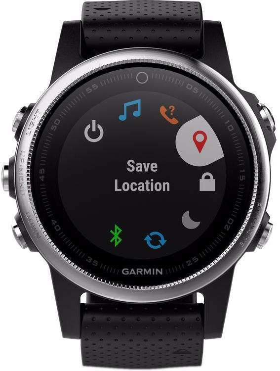 Спортивные часы Garmin Fenix 5S 010-01685-02 (Silver/Black)
