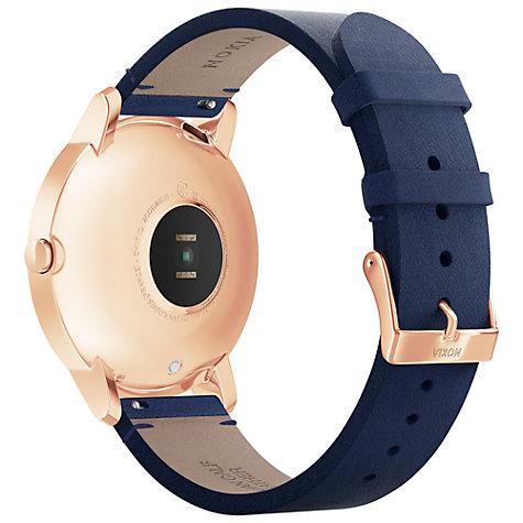 Умные часы Nokia Steel HR 36mm + Leather Wristband (Rose Gold/Blue)