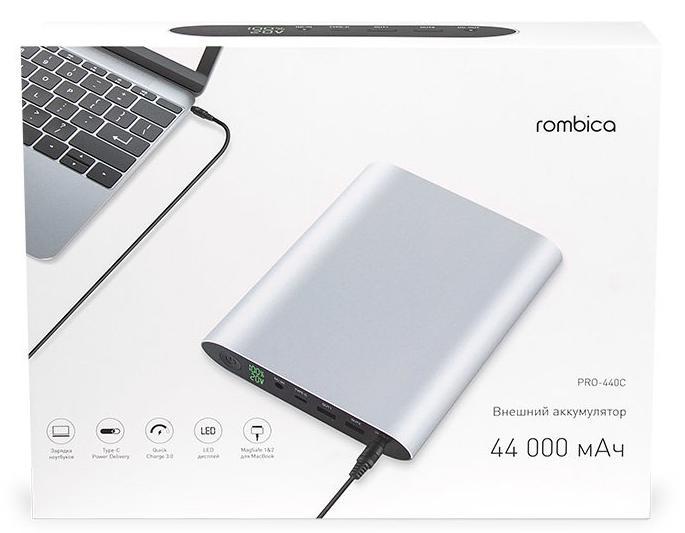 Внешний аккумулятор Rombica Neo Pro-440C 44 000 мАч для ноутбуков (Silver)
