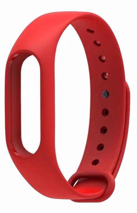 Сменный силиконовый ремешок для Xiaomi Mi Band 2 (Red)
