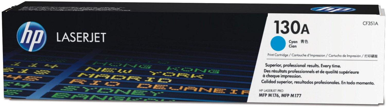 HP 130A (CF351A) - картридж для МФУ HPLaserJet Pro M153/M176/M177 (Cyan) чернильный картридж hp 130 c8767he black