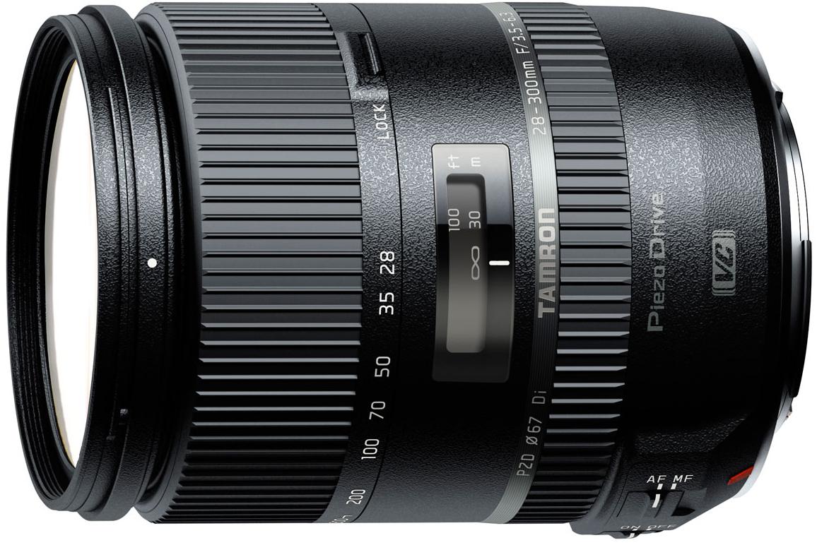 Tamron 28-300mm F/3.5-6.3 Di VC PZD - объектив для фотоаппаратов Canon (Black)