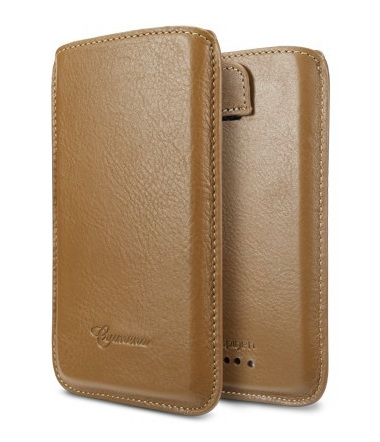 SGP Crumena Leather Pouch Series (SGP09078) - чехол для HTC One X (Brown) от iCover