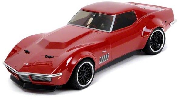 Радиоуправляемый автомобиль Vaterra 1:10 Corvette Custom 1969 V100-S 4WD VTR03022 (Red)