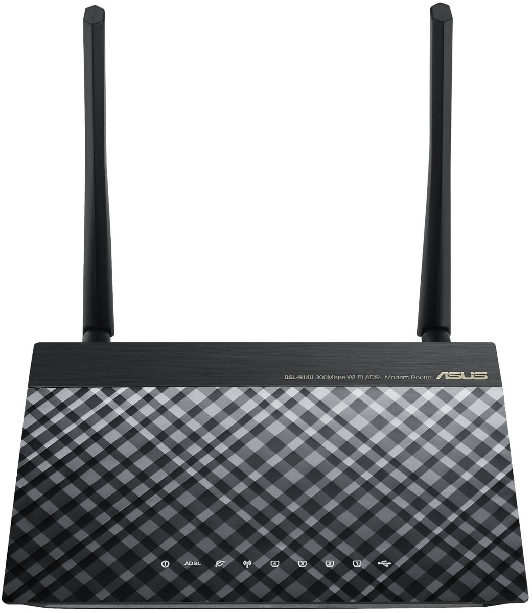 Asus DSL-N14U Wireless N300 - Wi-Fi-ADSL2+ роутер