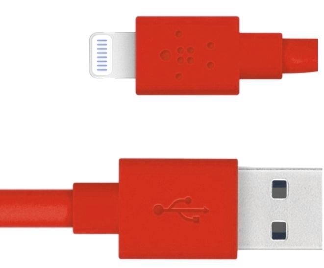 Belkin Mixit Flat Lightning to USB F8J148bt04-RED