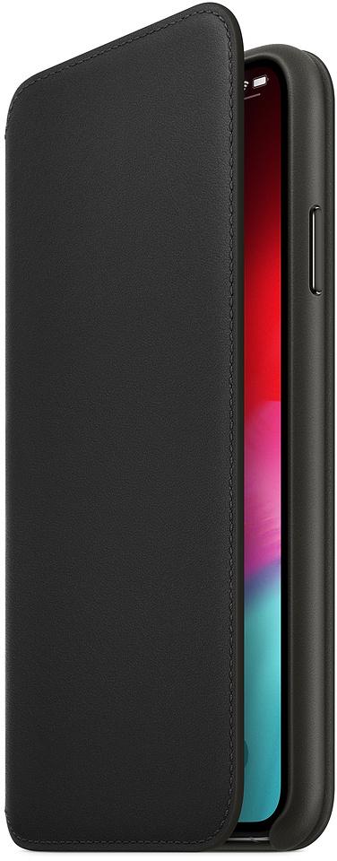 Чехол Apple Leather Folio (MRX22ZM/A) для iPhone Xs Max (Black)