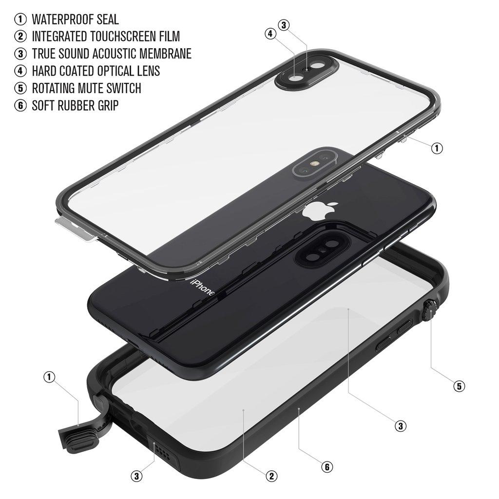 Водонепроницаемый чехол Catalyst Waterproof для Apple iPhone X (Stealth Black)