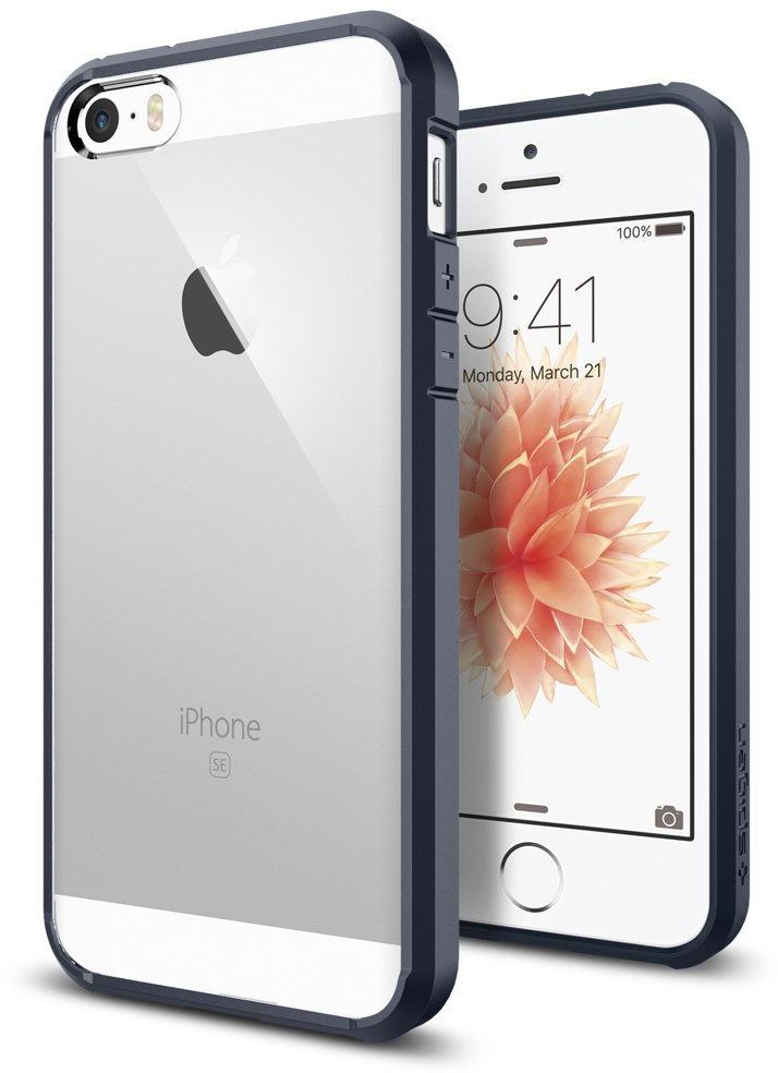 Spigen Ultra Hybrid (SGP10711) - чехол для iPhone 5/5S/SE (Metal Slate)