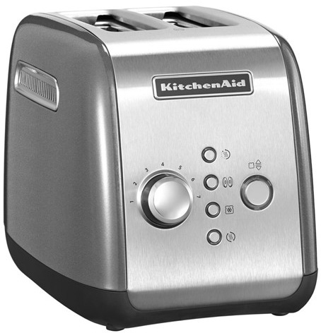 KitchenAid KMT221 2-slice Toaster (5KMT221ECU) - тостер на 2 хлебца (Contour Silver)