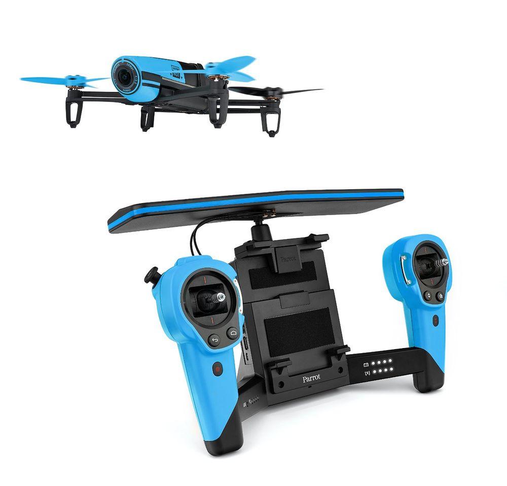 Bebop Drone + SkycontrollerМини-квадрокоптеры<br>Квадрокоптер с пультом дистанционного управления<br>