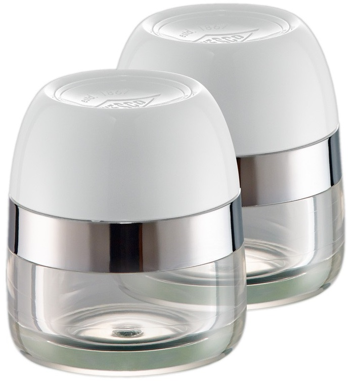 Wesco Spice Pots Set of 2 (322776-01) - баночки для хранения специй 2 шт. (White)Кухонные аксессуары<br>Баночки для хранения специй<br>