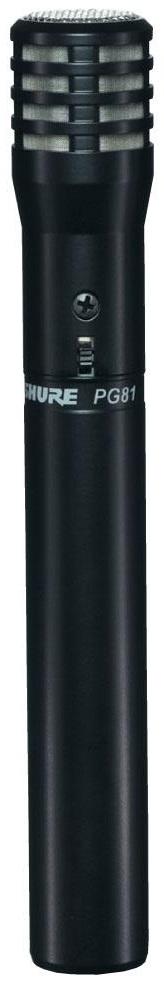 Shure PGA81-XLR (A058945) - кардиоидный конденсаторный инструментальный микрофон c выключателем (Black)