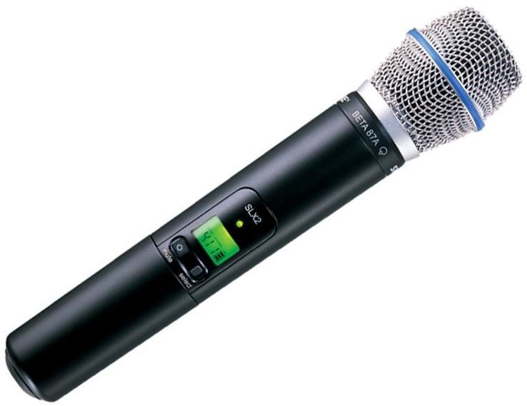 Shure SLX2/BETA87A L4E (A041840) - ручной передатчик с капсюлем микрофона BETA 87A (Black)