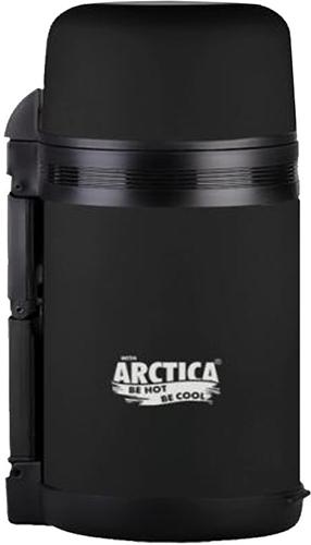 Арктика 203-1000 1 л - термос универсальный с широким горлом (Black Matte)