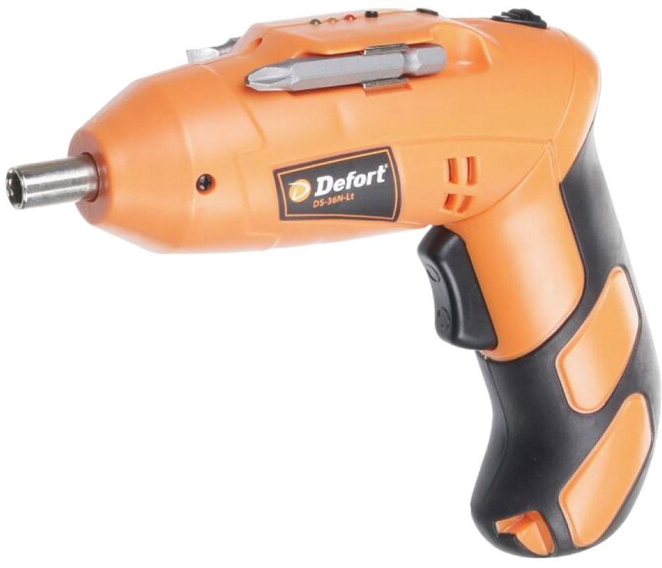 Defort DS-36N-Lt (93727987) - аккумуляторная отвертка (Orange)  отвертка defort ds 36n lt 93727987