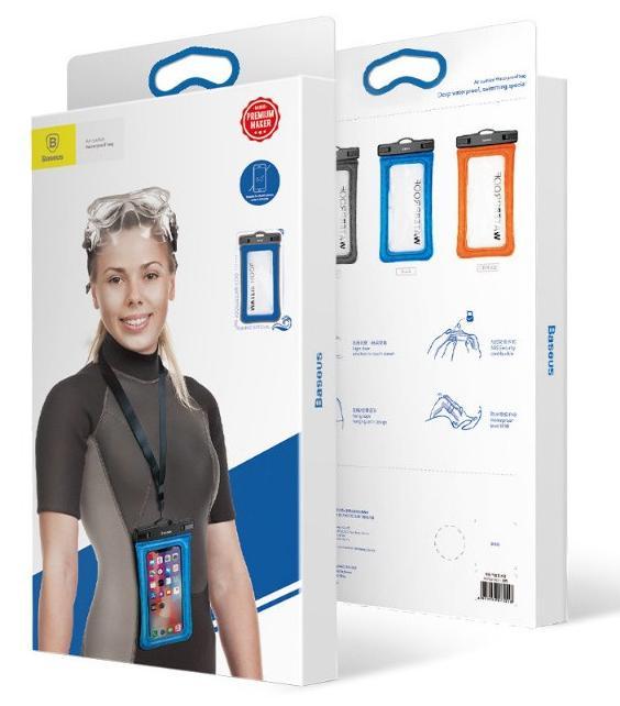 Водонепроницаемый чехол Baseus Waterproof Bag Air Cushion 5.5'' (Black)
