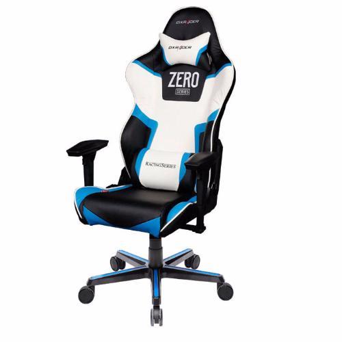DXRacer OH/RZ118/NBW/Zero - компьютерное кресло (Black/White/Blue)