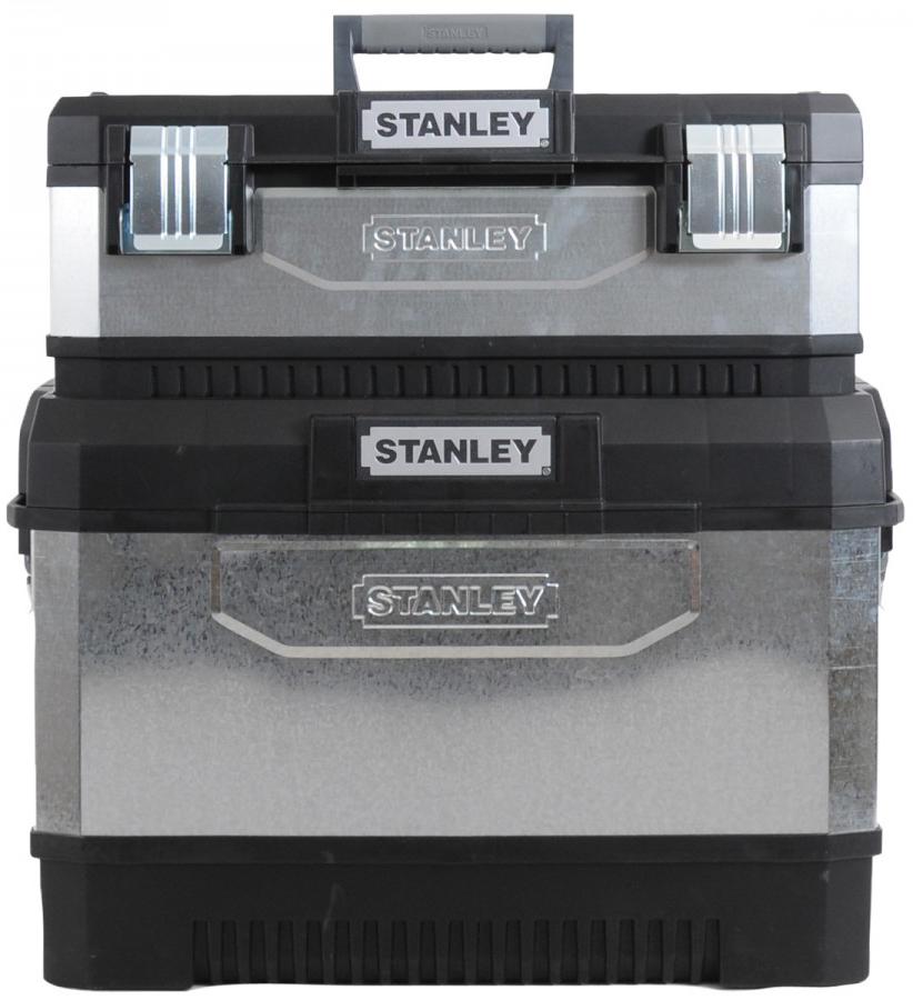Stanley 1-95-832 - двухсекционный ящик для инструментов с колесами (Grey/Black)