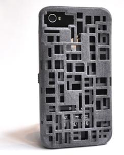 FreshFiber Mondriaan Case (74091504) - чехол для iPhone 4/4S (Grey)