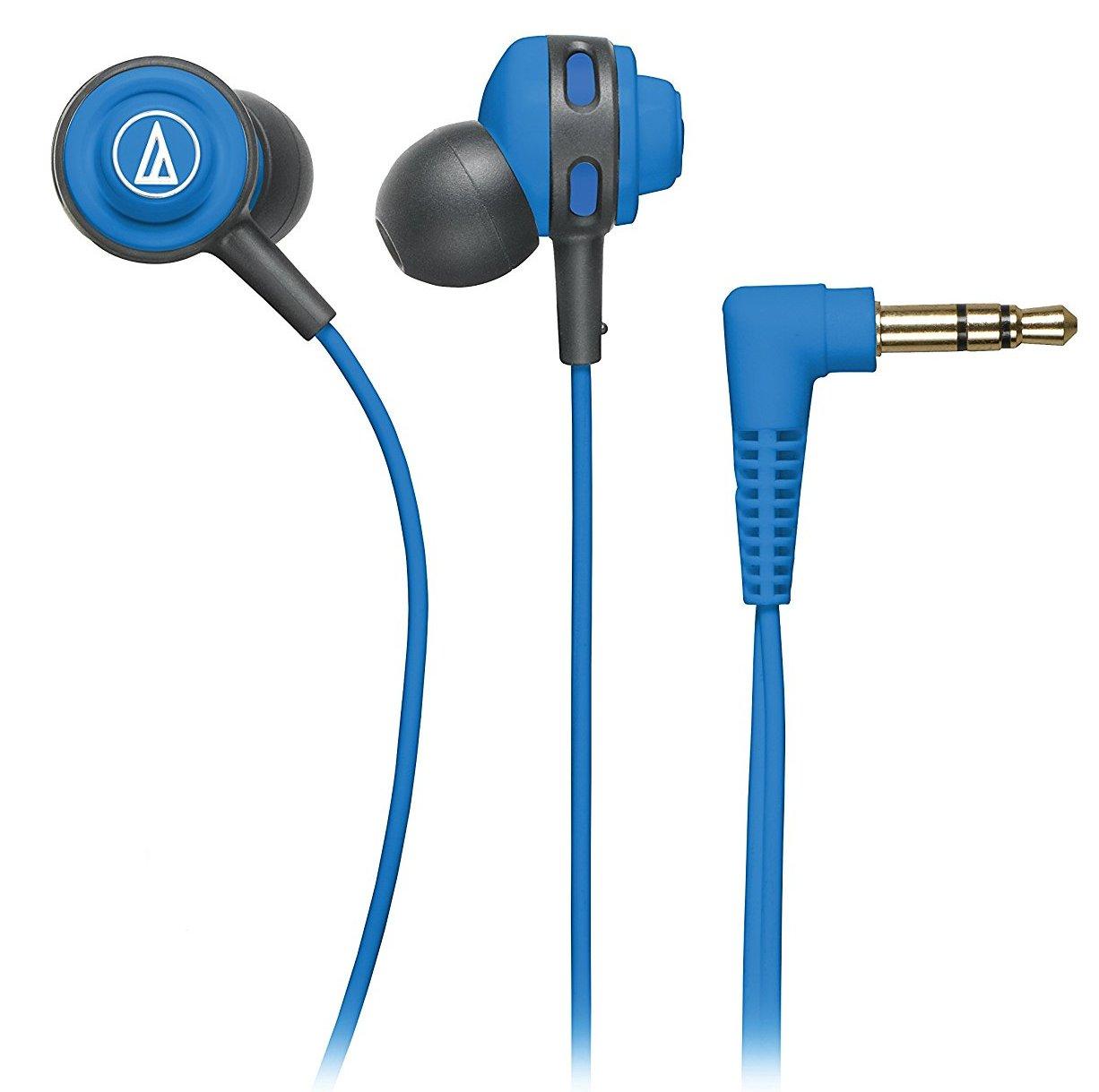 Audio-Technica ATH-COR150 - внутриканальные наушники (Blue) внутриканальные наушники audio technica ath sport1is pink
