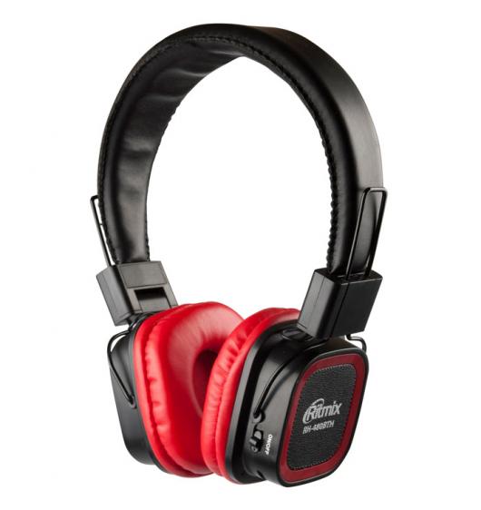 Ritmix RH-480BTH - беспроводная гарнитура (Black/Red)