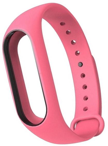 Сменный силиконовый ремешок для Хiaomi Mi Band 2 (Pink)