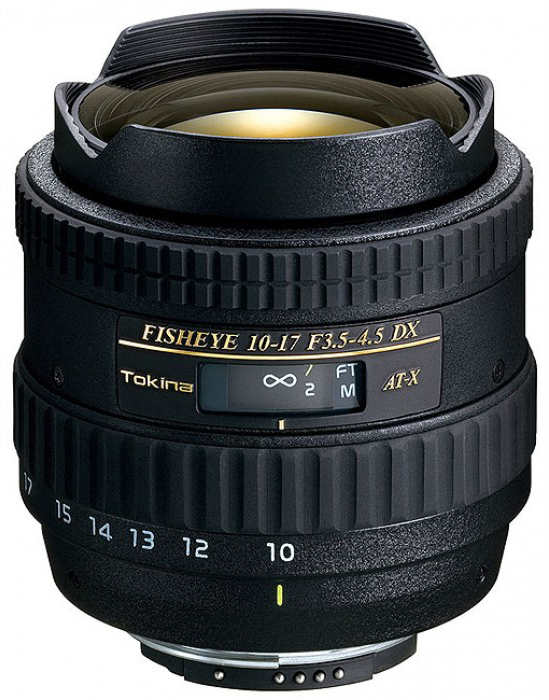 Tokina AT-X 107 AF 10-17mm f3.5-4.5 DX Fish-eye - объектив для фотоаппаратов Nikon