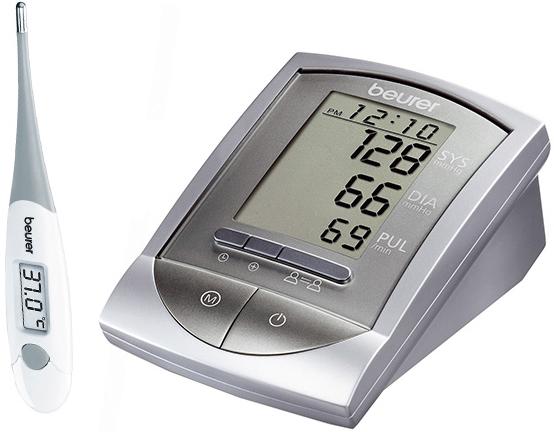 Тонометр Beurer BM 16 + термометр Beurer FT15/1 (Grey)