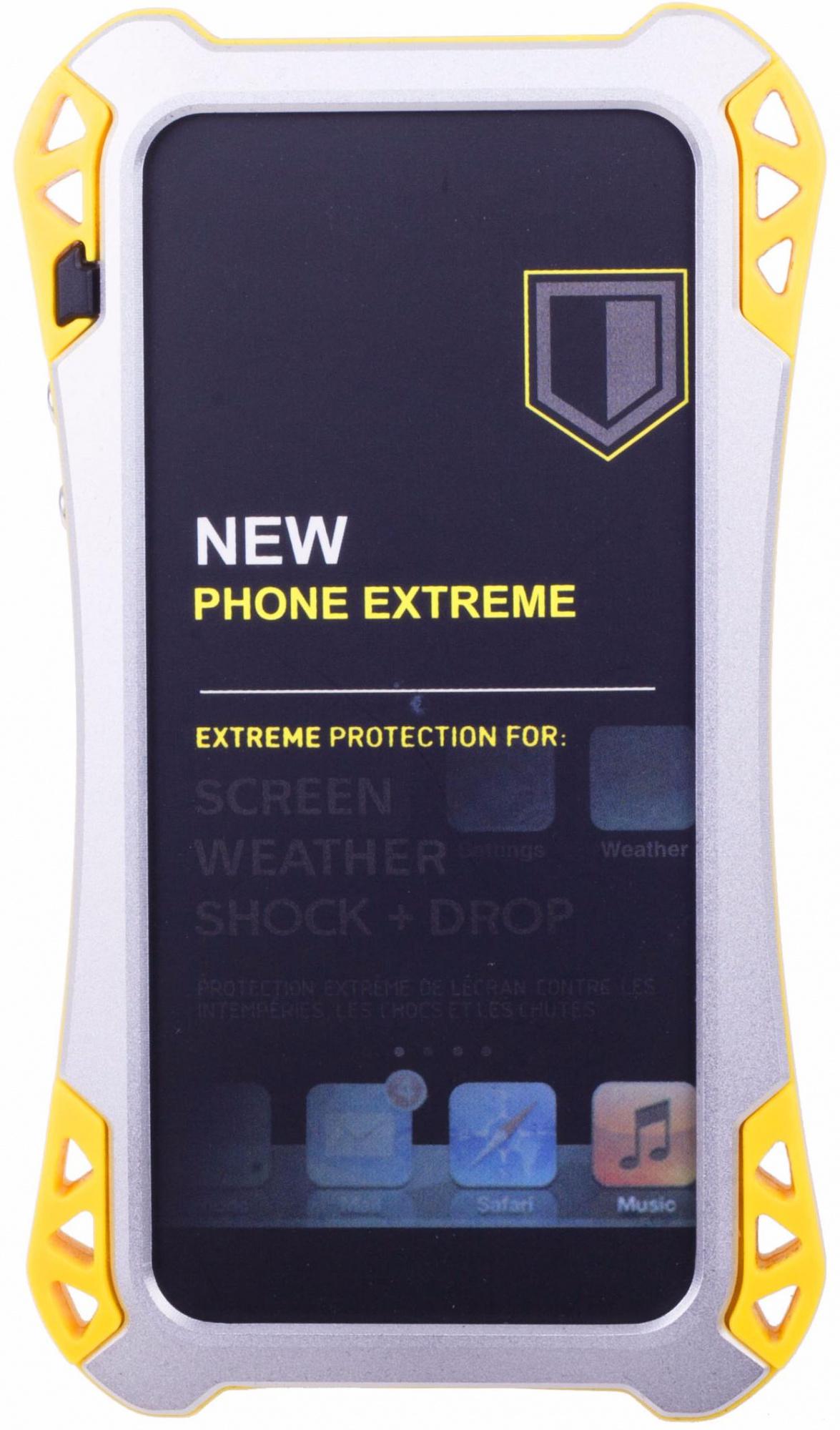 Amira Phone Extreme - защитный чехол для iPhone 5/5S/SE (Silver/Yellow)