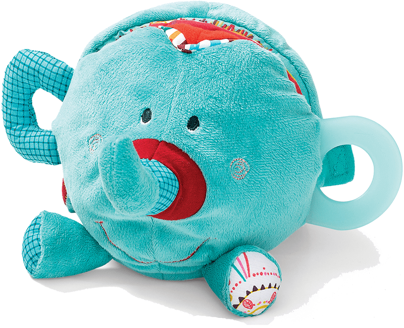 Lilliputiens Слоненок Альберт: развивающая мягкая книжка-игрушка (86738)