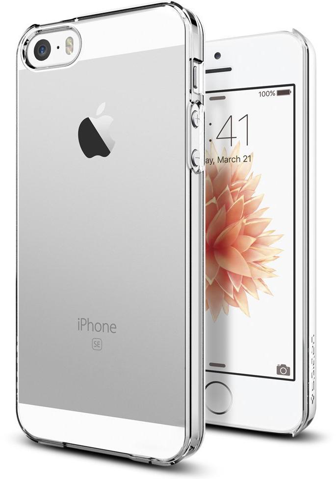 Spigen Thin Fit (041CS20246) - чехол для iPhone 5/5s/SE (Crystal Clear) стоимость