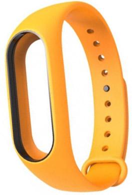 Сменный силиконовый ремешок для Xiaomi Mi Band 2 (Orange)