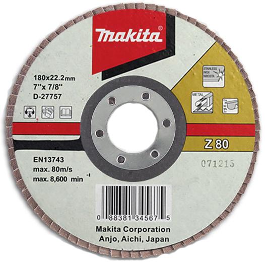 Подробнее о Makita Z80 (D-27707) - диск шлифовальный лепестковый диск шлифовальный лепестковый