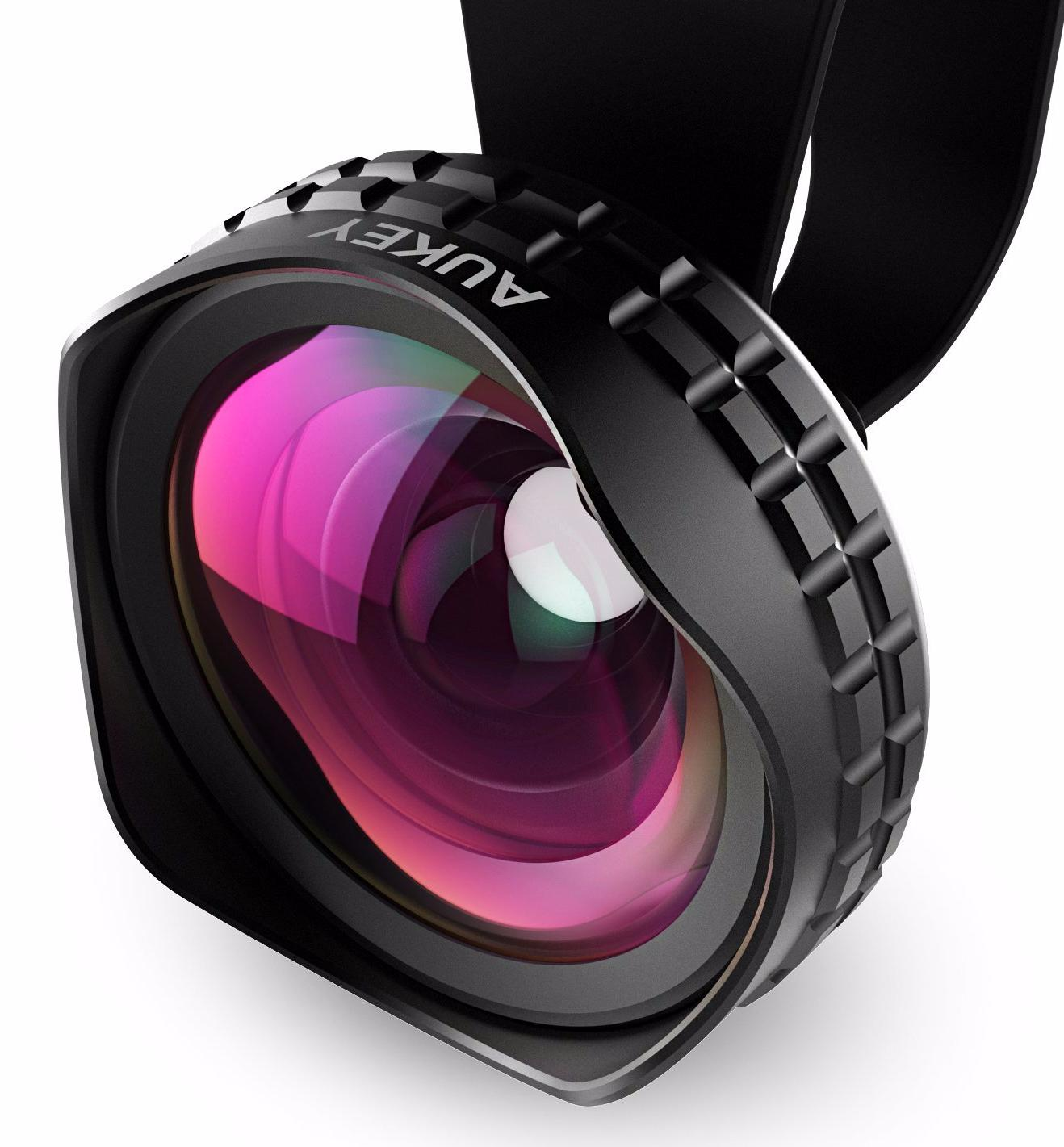 Optic Pro pickogen he 077 uv fisheye macro wide angle camera lens with led for iphone samsung pink