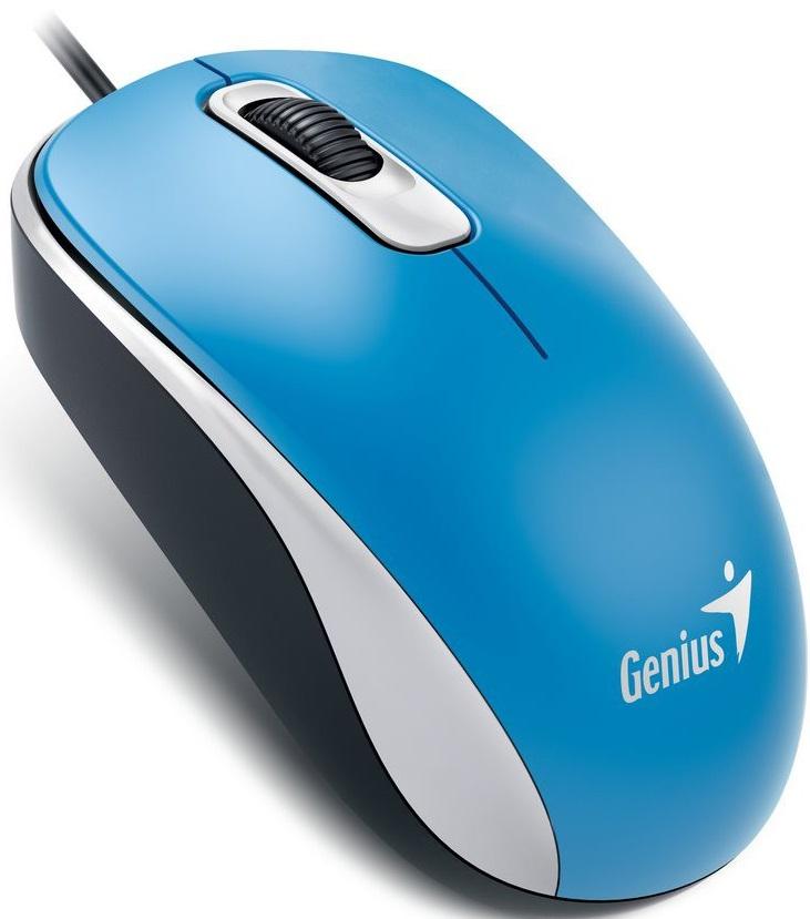 Genius DX-110 - проводная мышь (Blue) genius hs 300a silver