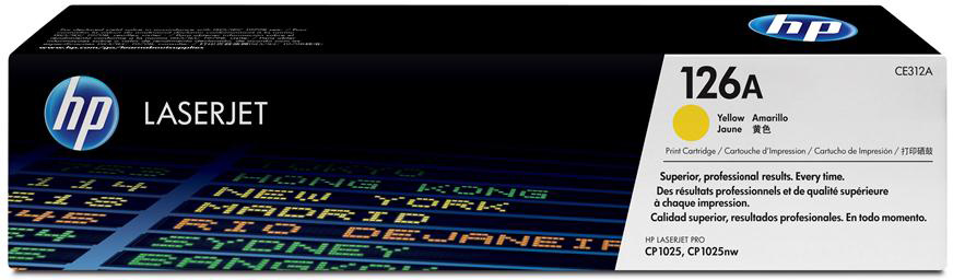 HP 126A (CE312A) - картридж для принтера HPLaserJet Pro CP1025 (Yellow)Картриджи и тонеры<br>Картридж<br>