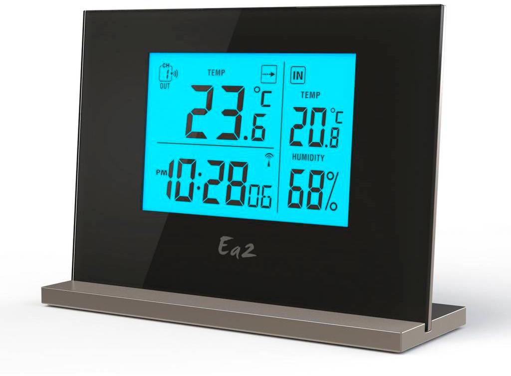 Ea2 EN201 - термометр с часами (Black)