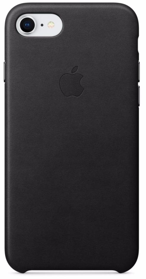 Чехол-накладка Apple Leather Case (MQH92ZM/A) для iPhone 7/8 (Black)