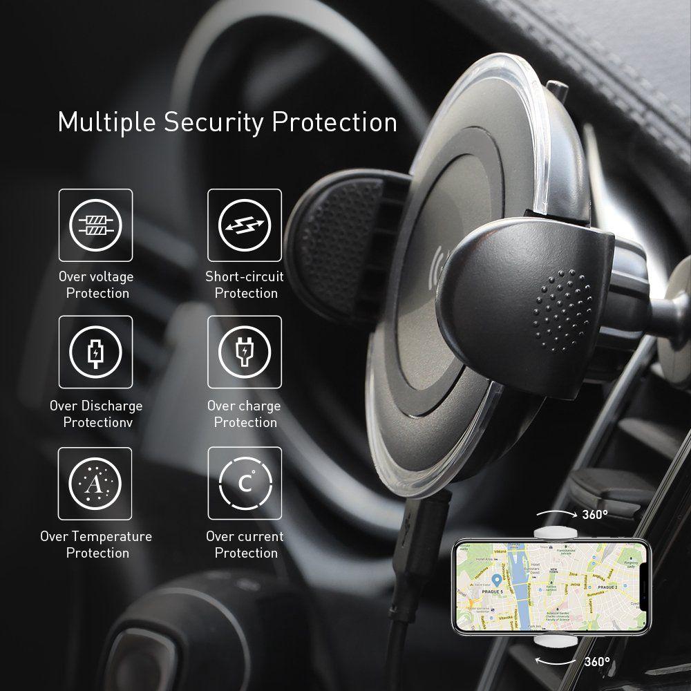 Автодержатель Momax Wireless Charging Car CM8D (Black)