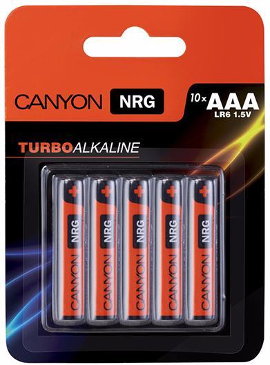 Canyon NRG AAA Battery Pack 10pcs (ALKAAA10) - комплект батареек