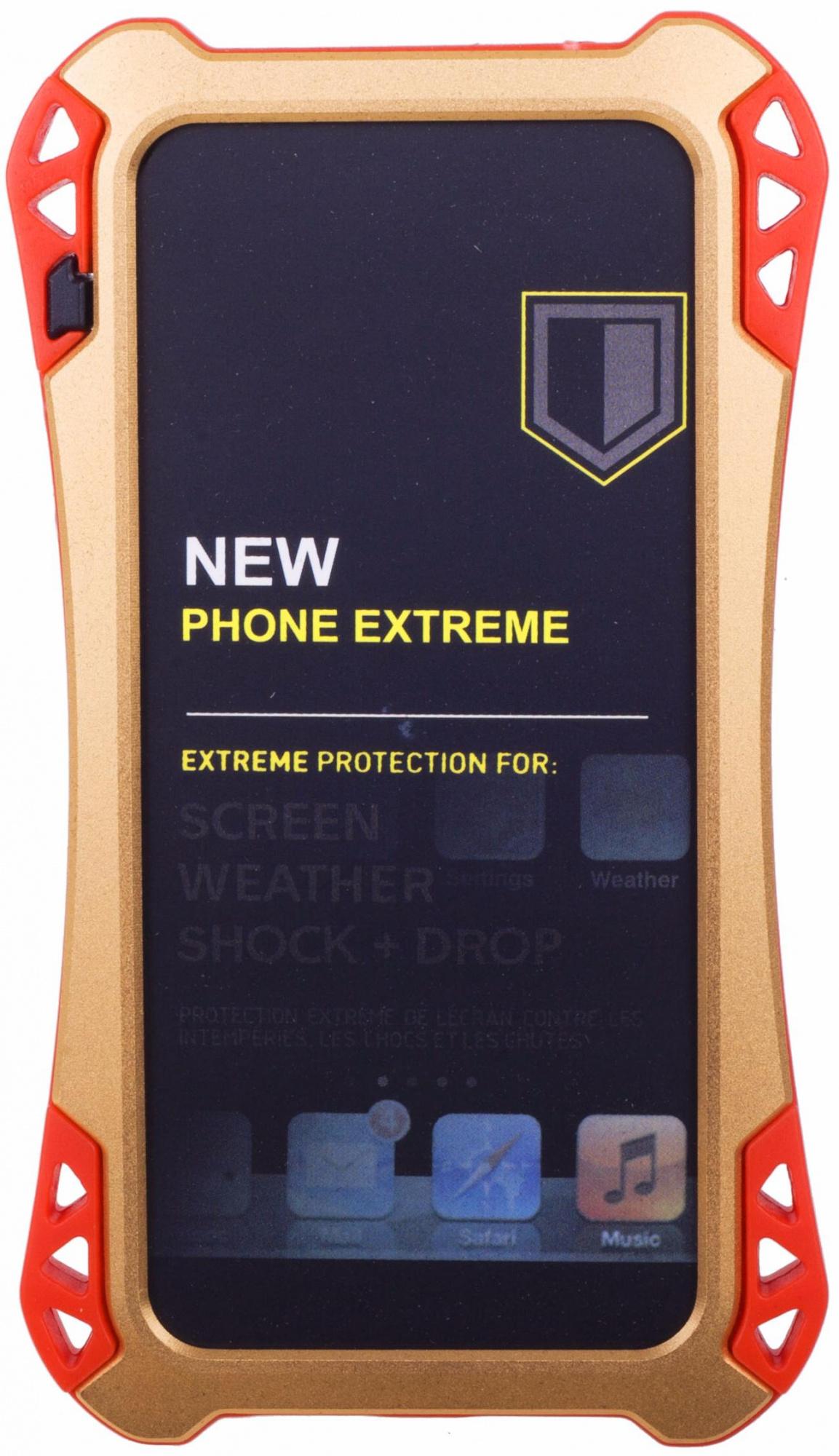 Amira Phone Extreme - защитный чехол для iPhone 5/5S/SE (Gold/Red)