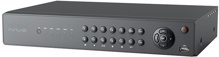 Ivue AVR-16X1080Р-Н2 - 16-ти канальный мультигибридный видеорегистратор (Black)