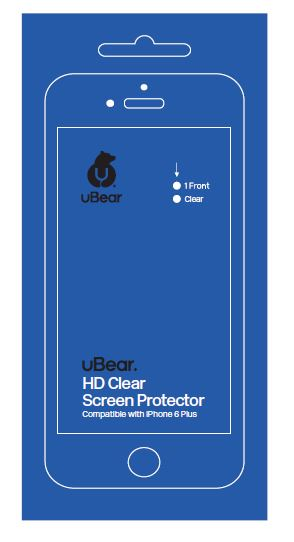 uBear HD Clear (SP01CL01-I6P) - защитная пленка для iPhone 6 Plus