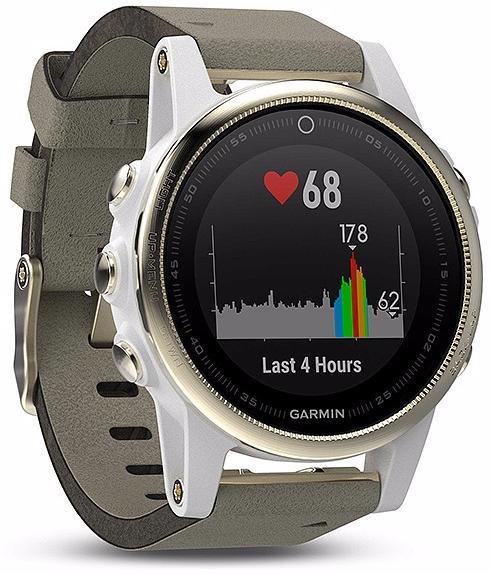 Спортивные часы Garmin Fenix 5S 010-01685-13 (Sapphire Champagne/Leather Grey)