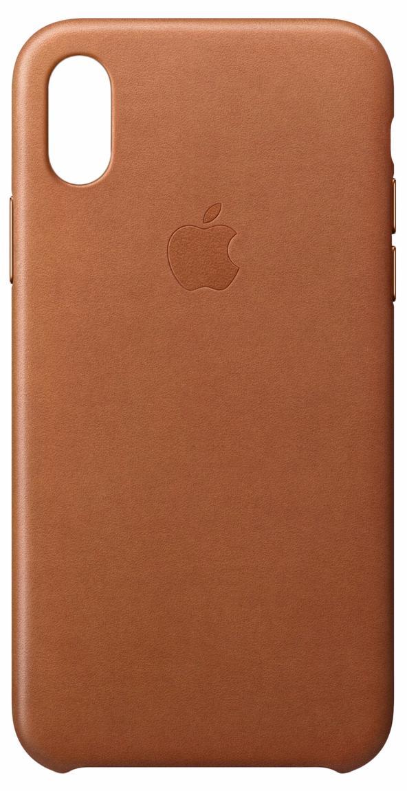 Чехол Apple Leather Case MQTA2ZM/A для iPhone X (Saddle Brown)